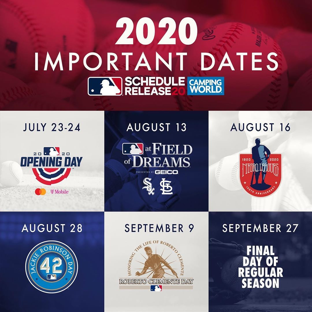 Mlb On Instagram Dates To Remember In 2020 Remember Important Dates Dating