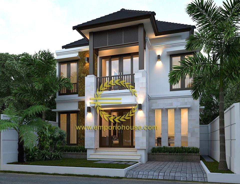 Desain Rumah 2 Lantai 3 kamar Lebar Tanah 10 meter dengan