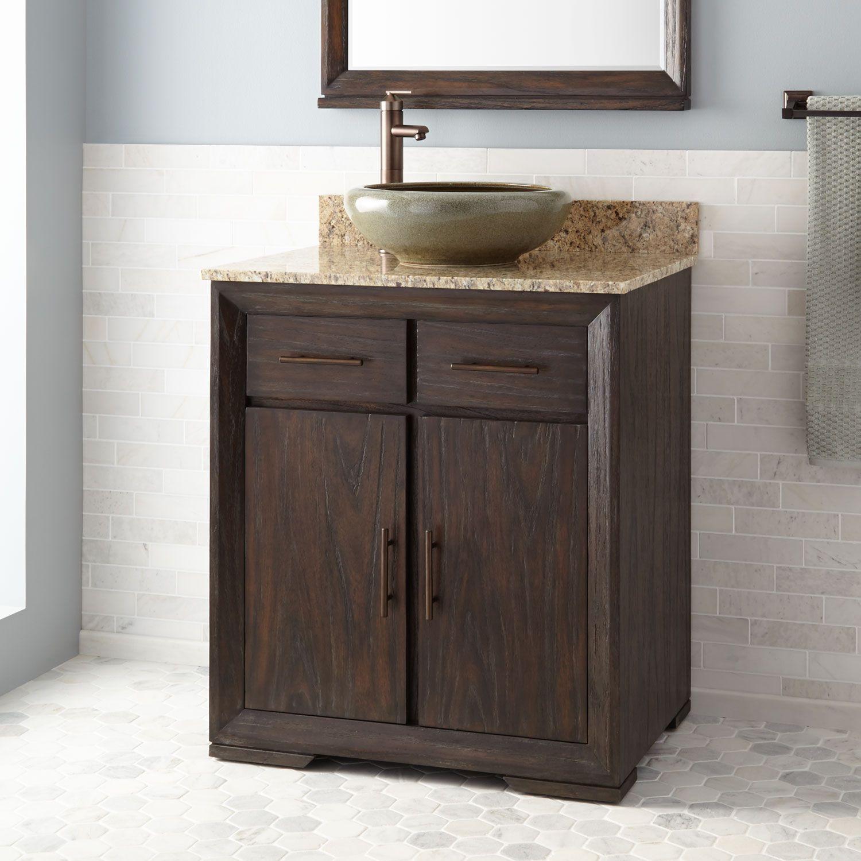 30 Davyn Vessel Sink Vanity Rustic Dark Brown Bathroom Vanity Makeover Vanity Sink Vessel Sink Vanity
