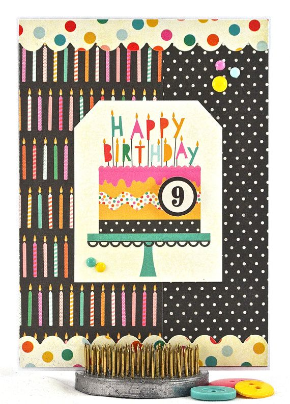 9th birthday card 9 year old girl birthday sister birthday card turning 9 is such an exciting time its the last year before a double digits birthday celebrate in style with this one of a kind birthday card bookmarktalkfo Images