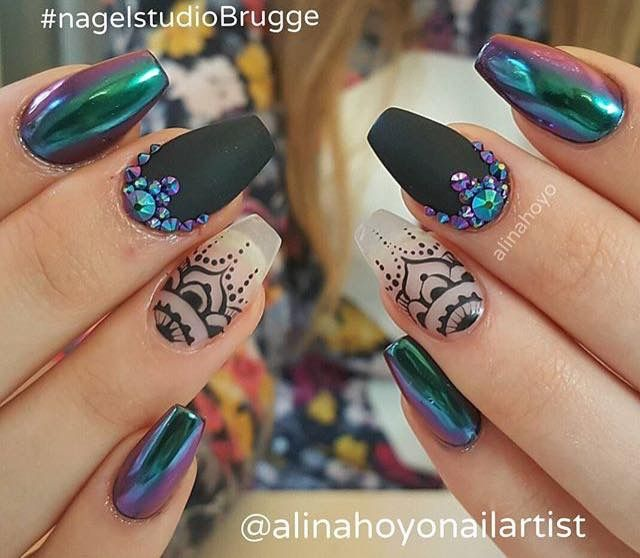 Efecto holograma #uñas | uñas diseños | Pinterest | Holograma ...