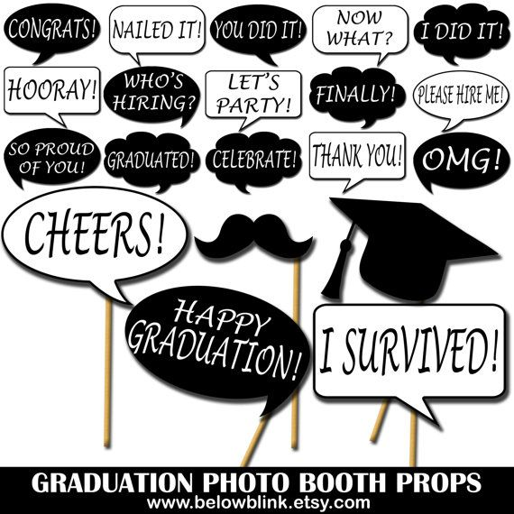 picture about Printable Graduation Photo Booth Props titled Commencement Image Props, Printable Photograph Booth Props, Speech