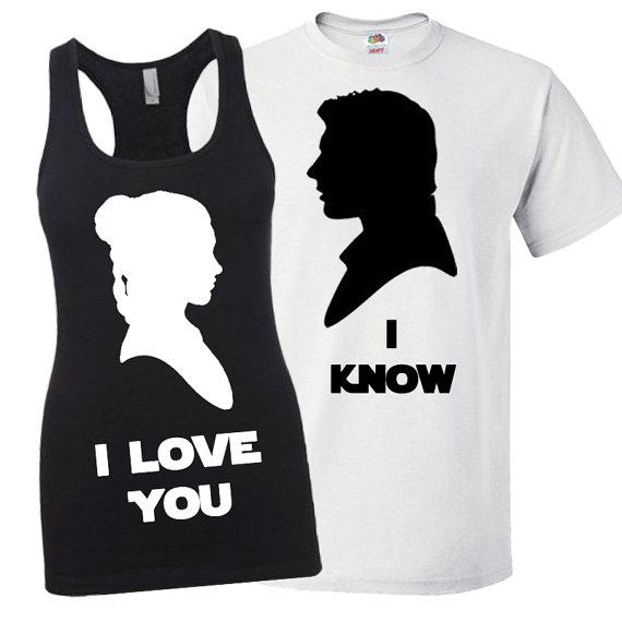 Disney Star Wars Han Solo and Princess Leia Matching Shirt Set 3MzVxXh