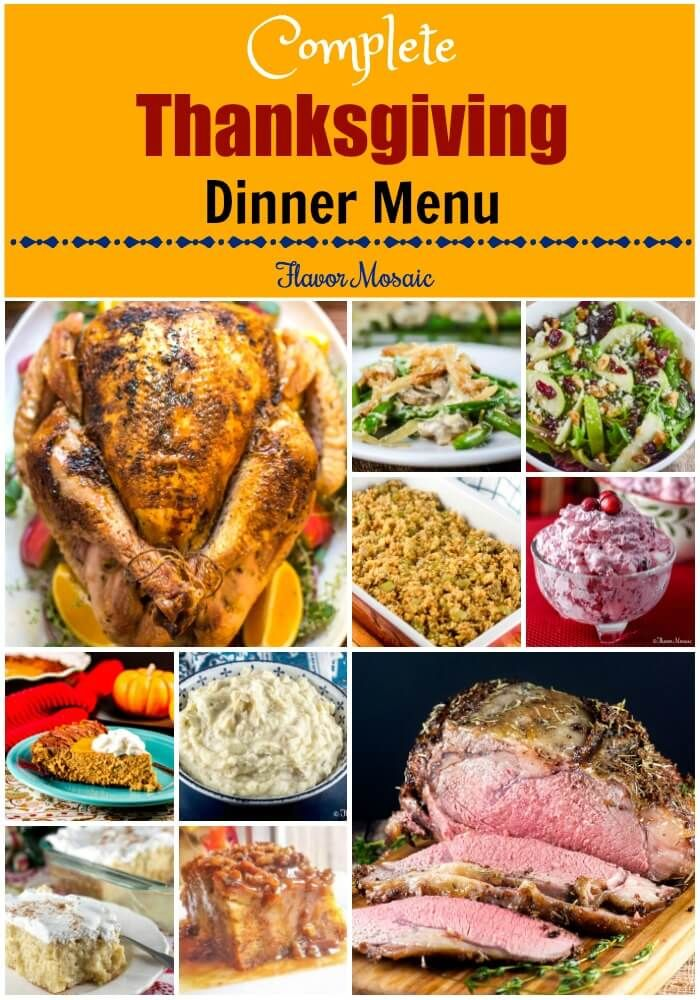 This Thanksgiving Dinner Menu provides a complete Thanksgiving - dinner menu