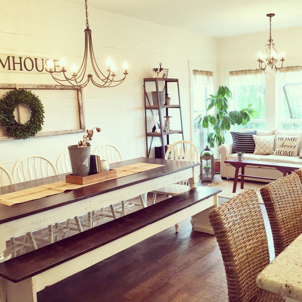 filling up a large wall space farmhouse style home decor ideas