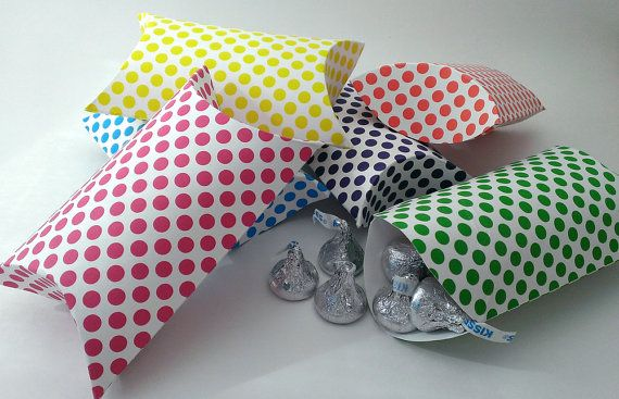 Polka Dot Pillow Pack Boxes 6 pack by birddoodle on Etsy, $7.50
