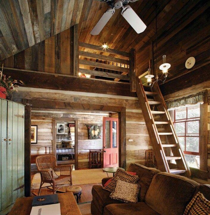 Baita Legno Soppalco Small Log Cabin Small Cabin Interiors