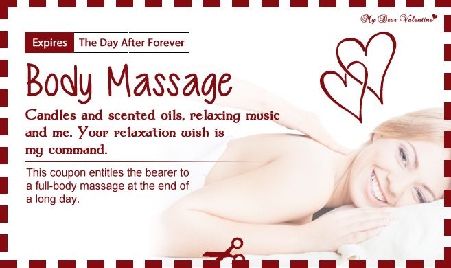 Body Massage | Love Coupons | Pinterest | More Coupons ideas