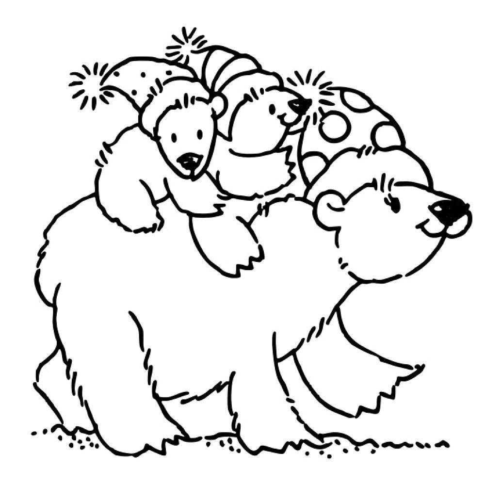 Cartoon Polar Bear Coloring Pages  PeepsBurgh
