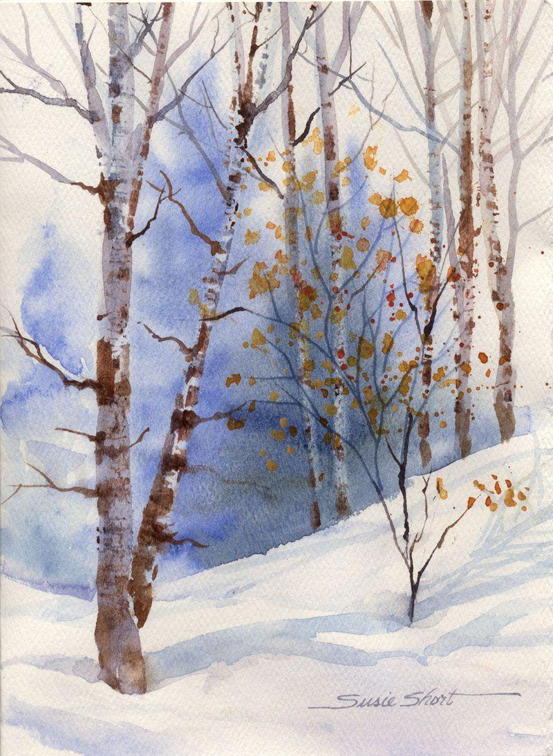 Susie Short Watercolor Winter Landscape Daniel Smithdaniel