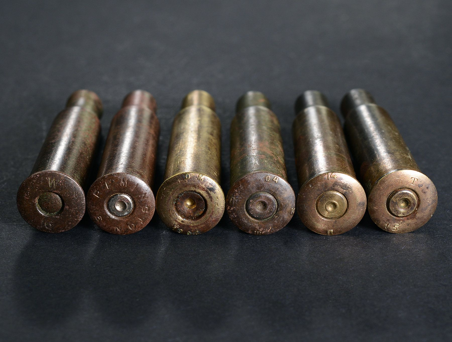Cartridges: Mosin Nagant 7 62x54R Stamped W16, Remington, DM 1906