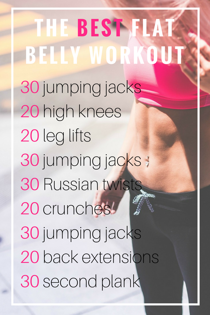 Best Workout for a Flat Belly