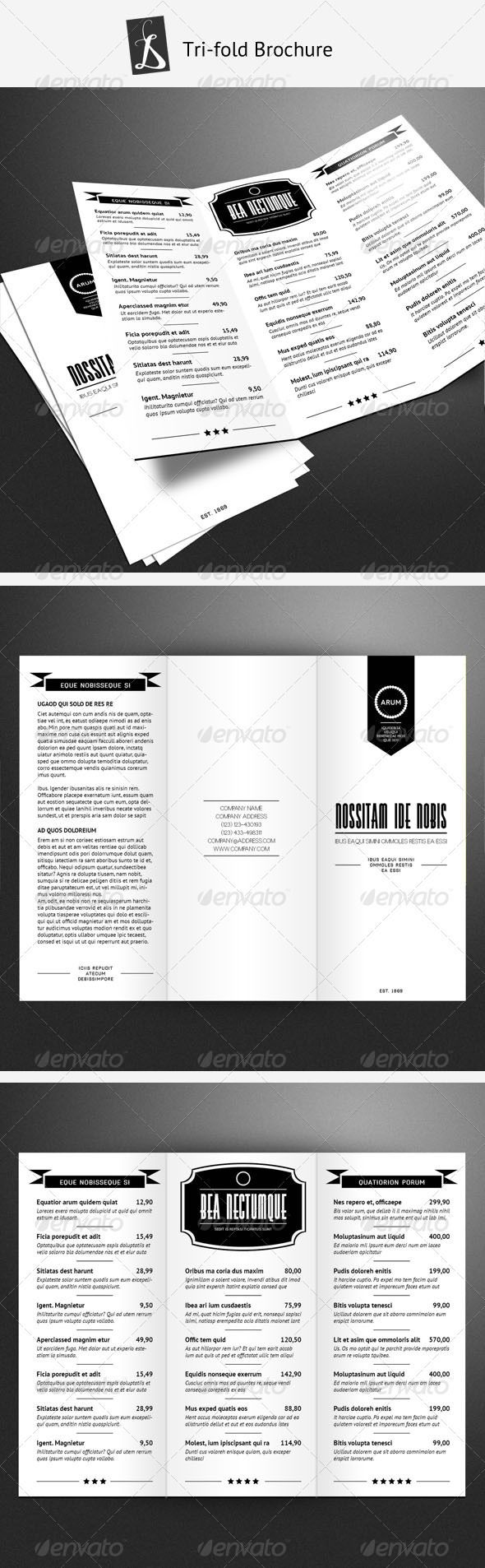 Tri-fold Brochure 2 | Tri fold brochure, Brochures and Menu templates