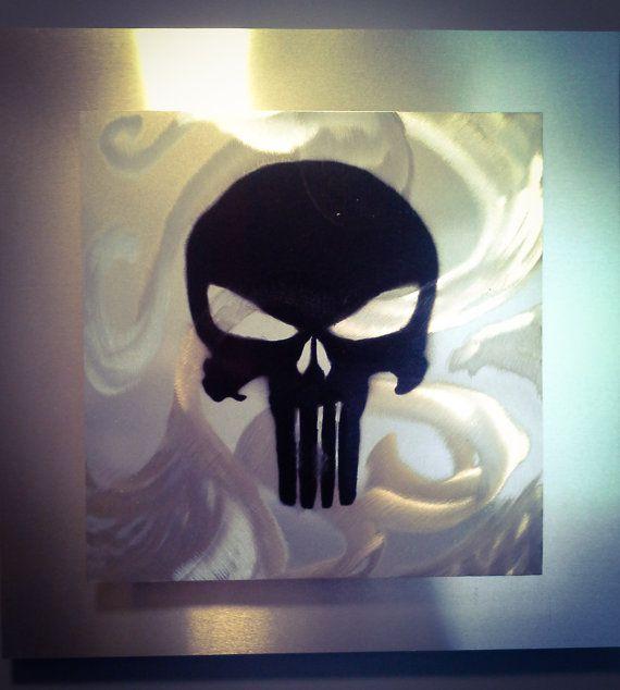 The Punisher Aluminum Wall Art Aluminum Wall Art Art Wall Art