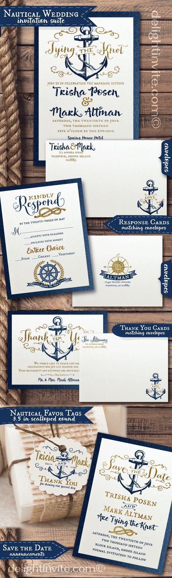 Nautical Beauty Wedding Invitation Exclusivelyweddings