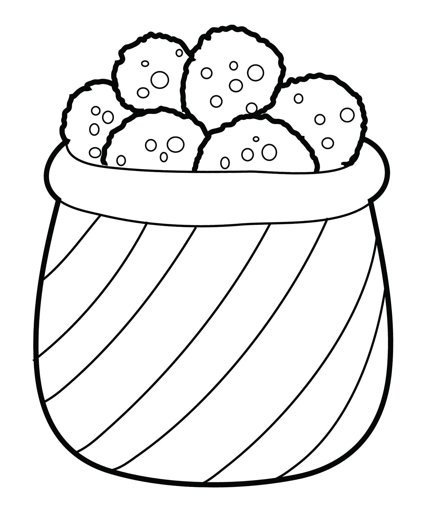 Cookies In The Basket Coloring Page