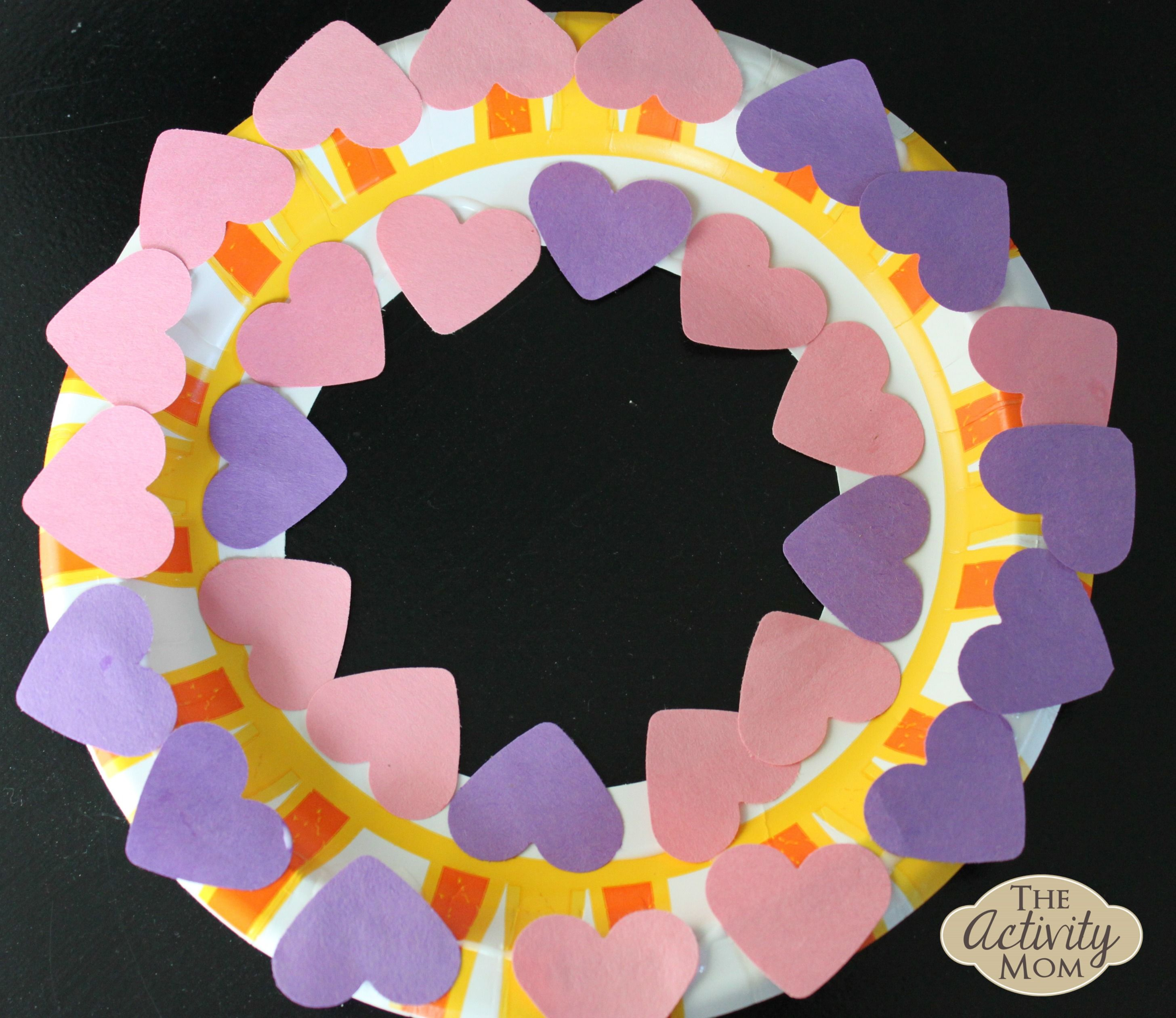 Paper Plate Heart Wreath | The Activity Mom