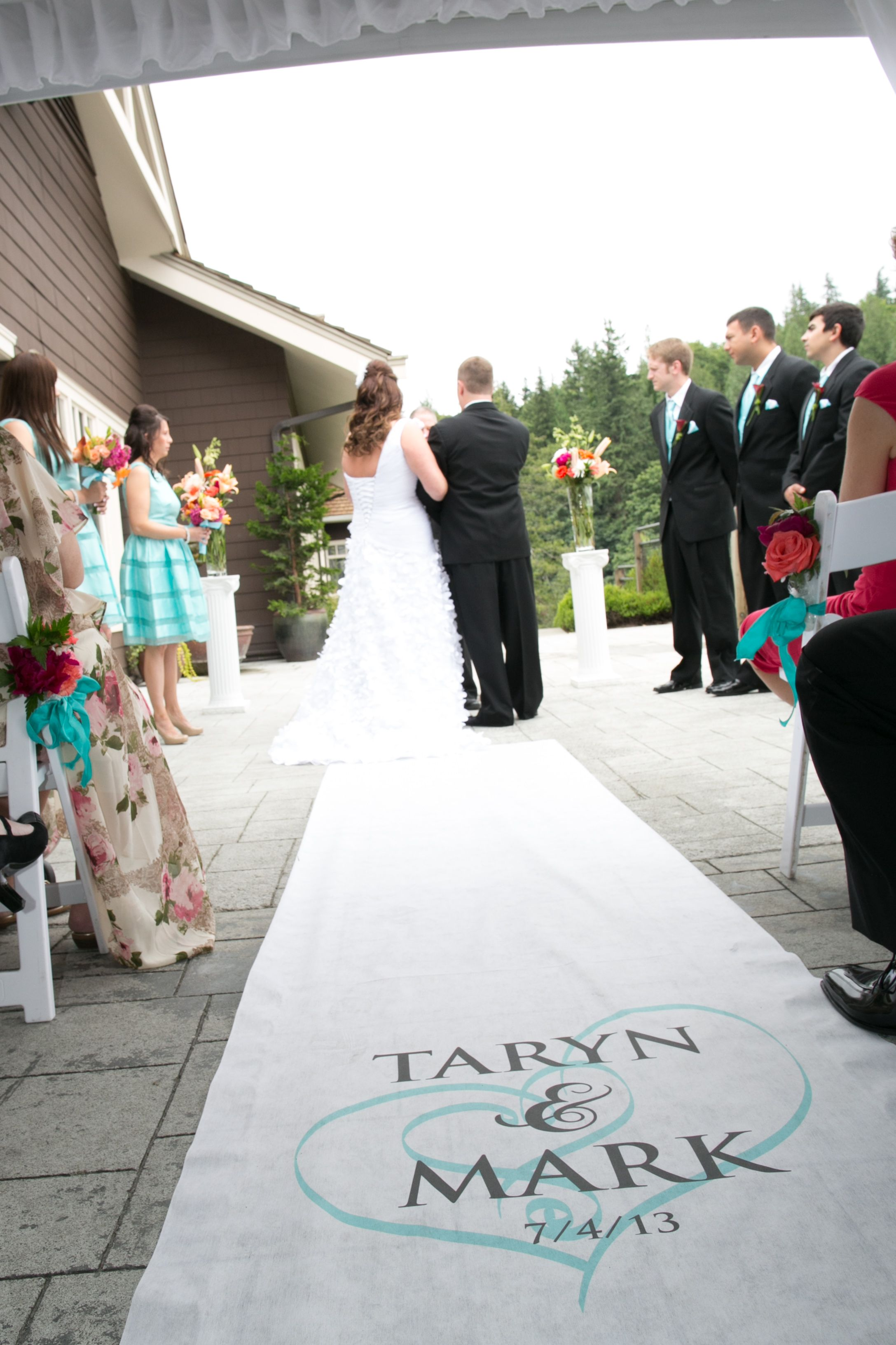 Wedding Day Picture Idea Custom Aisle Wedding Runner purchased on ...