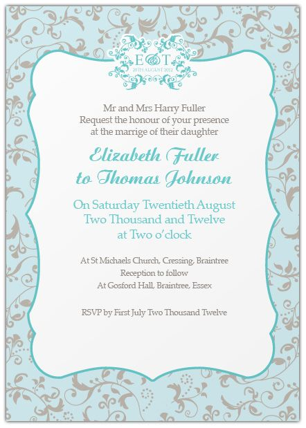 If There Is A Reception Following The Ceremony It Can Be Included On