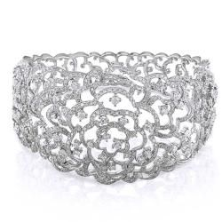 All I can say is WOW! A girl can dream can't see: CAD $11551.59. Miadora 14k White Gold 8 1/8ct TDW Diamond Bangle Bracelet (G-H, I1-I2)