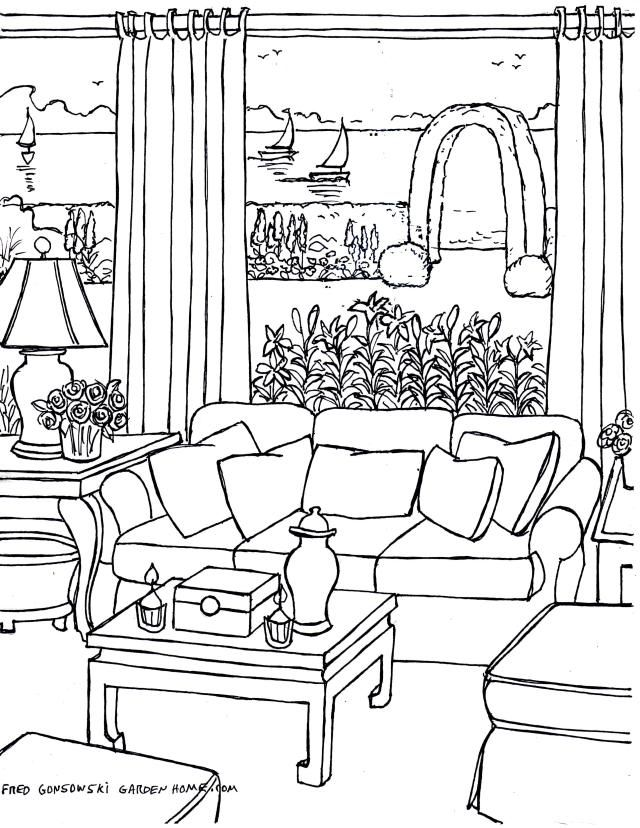 img406 coloring page housedoor