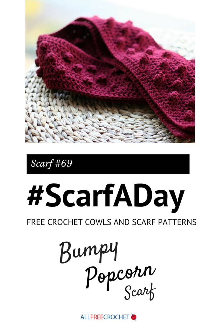 Crochet Scarf Patterns With Popcorn Stitch : Fun popcorn stitch scarf from @eatingoutloud #ScarfADay ...