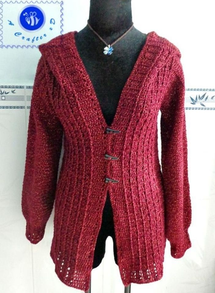 Crochet Hooded Sweater Free Pattern Ideas Haken Patronen En Kleding