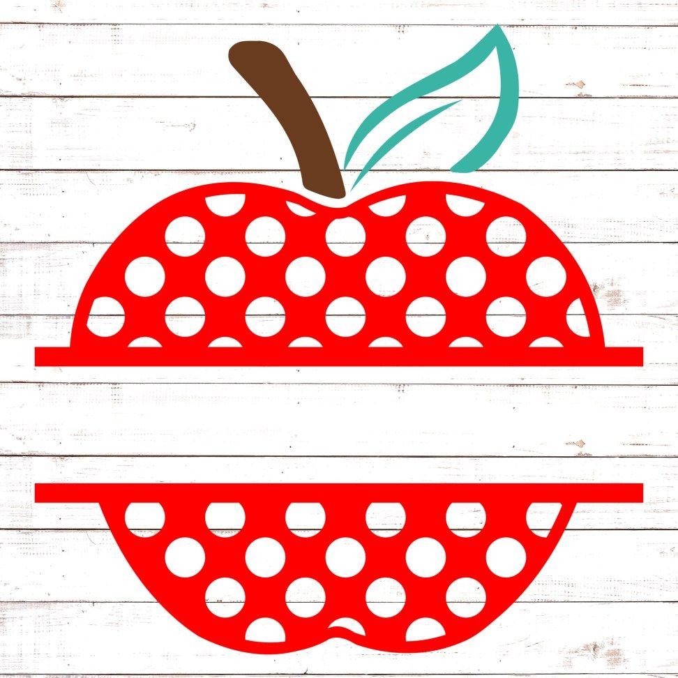 Polka Dot Apple Split Monogram 2 (With images) Free svg