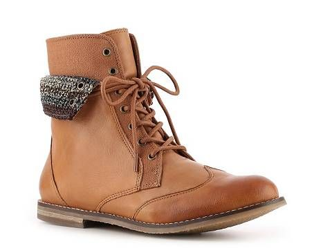 Cognac Sak Ladies Boot Julia Combat The