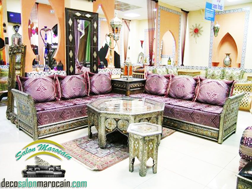 salon-marocain-en-charment-couleurjpg (640×374) homes Pinterest
