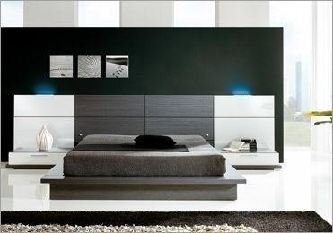 Dormitorio Lineal Moderno Cama 2 Plz 2 Veladores Dr 019