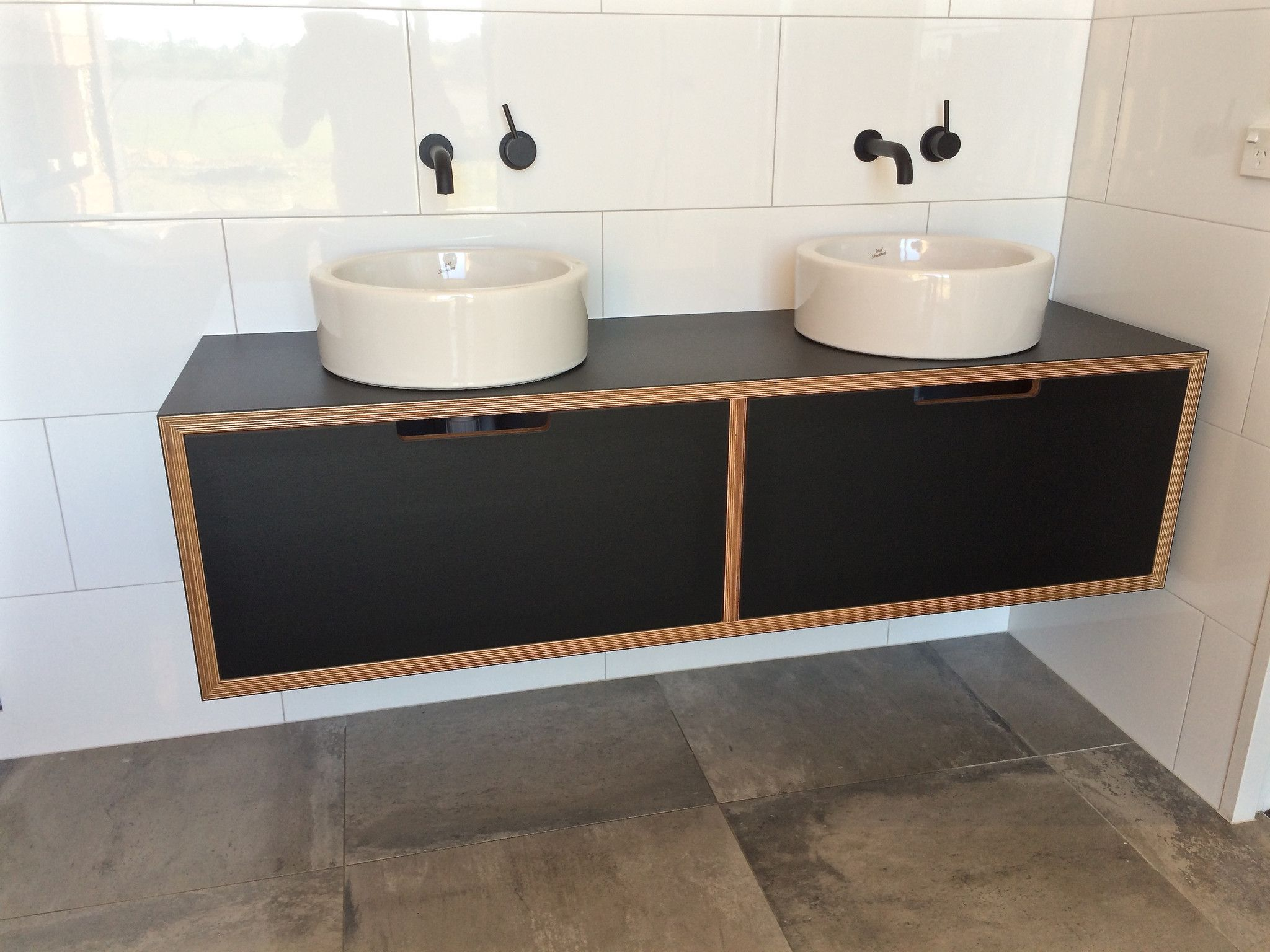 enjoyable formica bathroom vanities. Black formica laminated onto Birch plywood  the adults version of yellow that looks fabulous with black tap ware laminate vanity on custom made in NZ Dream