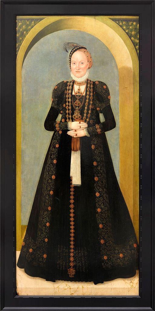 Postkarte: Anna von Dänemark - Kurfürstin von Sachsen