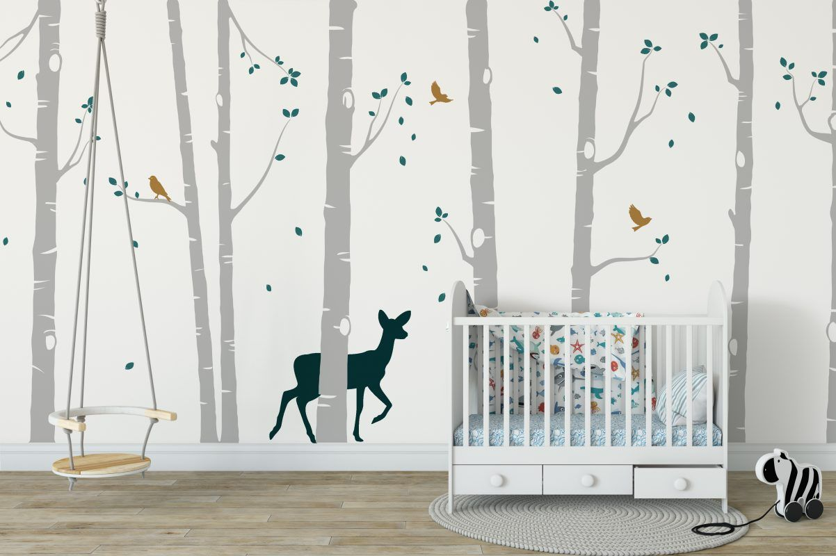 Tree wall stickers nursery ideas forest animal wall stickers wall stickers wall decals