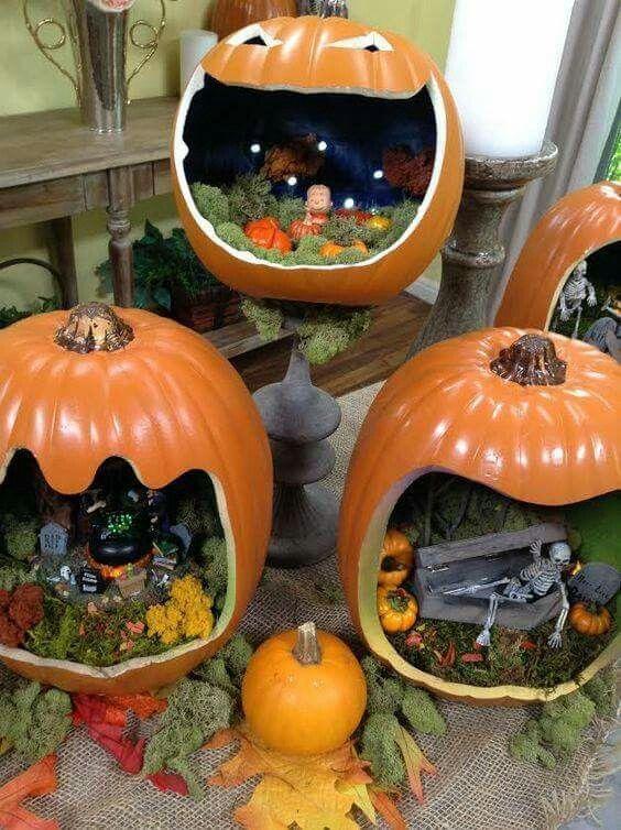 Pumpkin gardens #dioramaideas