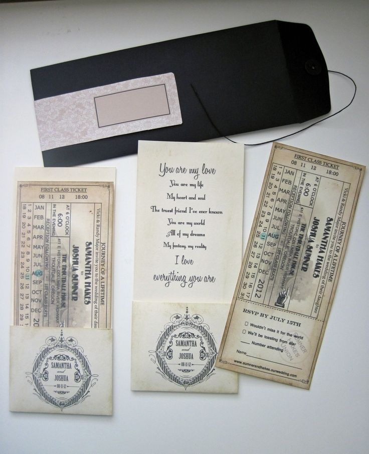 movie ticket stub wedding invitation%0A Find this Pin and more on Stationary for wedding  Wedding Invitation   Train ticket