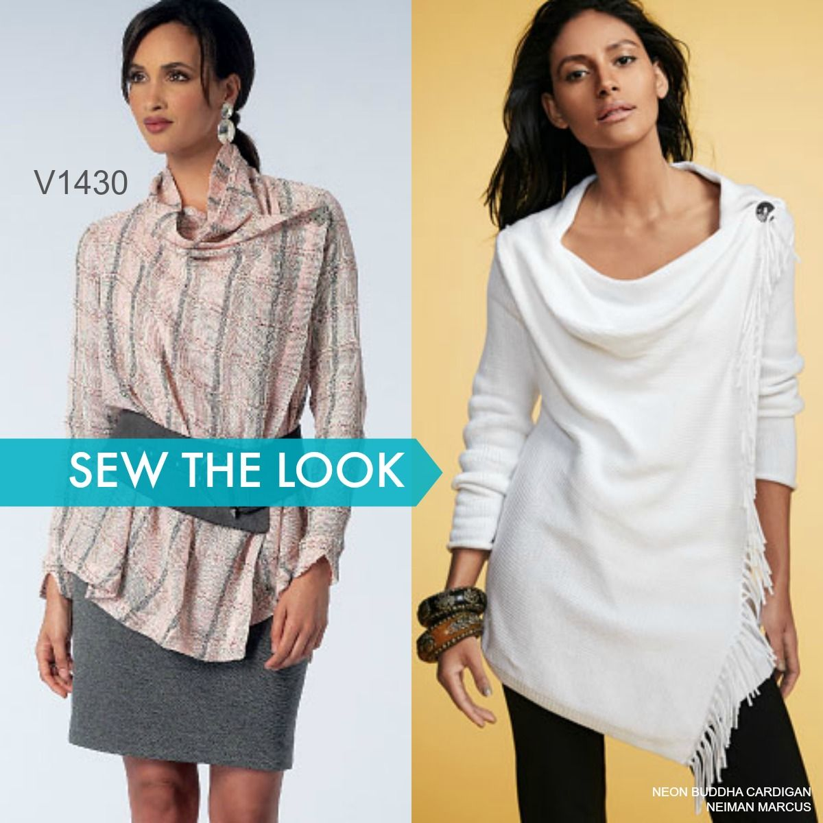 Sew the Look: Vogue Patterns V1430 draped cardigan sewing pattern by ...