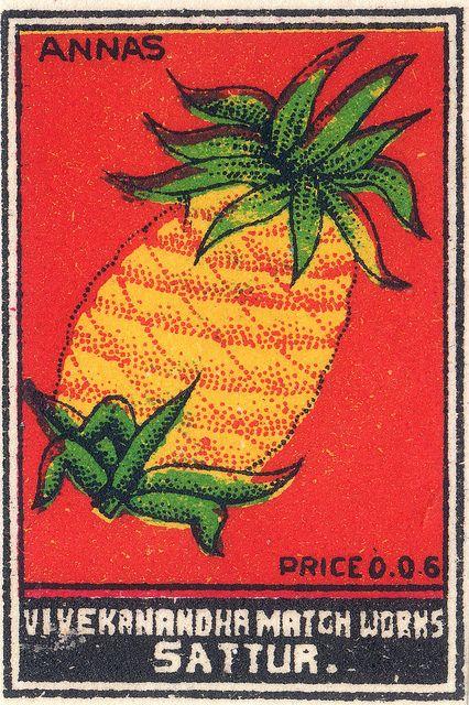 vintage ananas sign