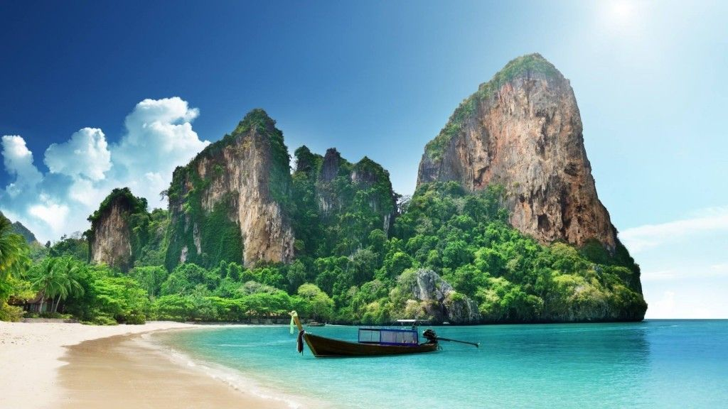 Railay Beach, Krabi (Thailand) Pictures don't do this place justice.