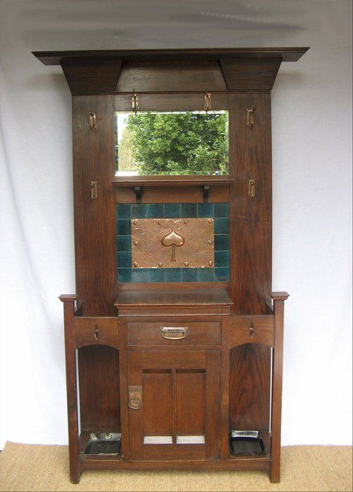 Crafts Hallstand By Harris Lebus, Arts And Crafts Furniture Style
