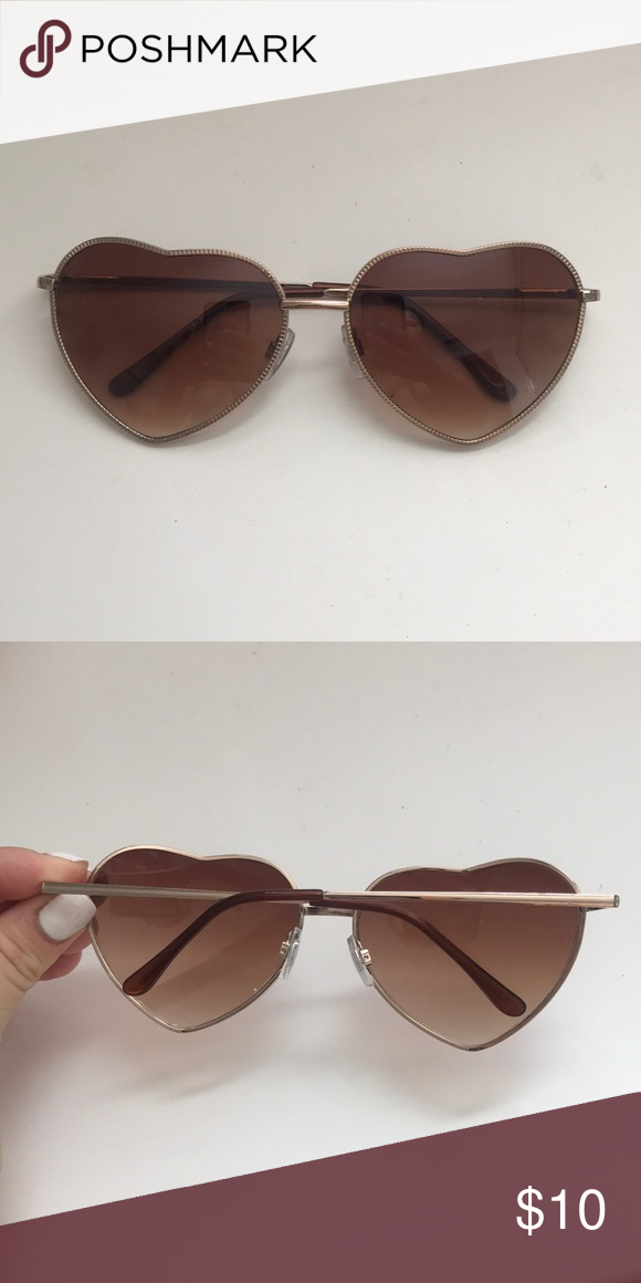 822d4da8a35d4 Heart sunglasses! Heart shaped sunnies that are cute for any occasion!  Barely worn in great condition. PacSun Accessories Sunglasses