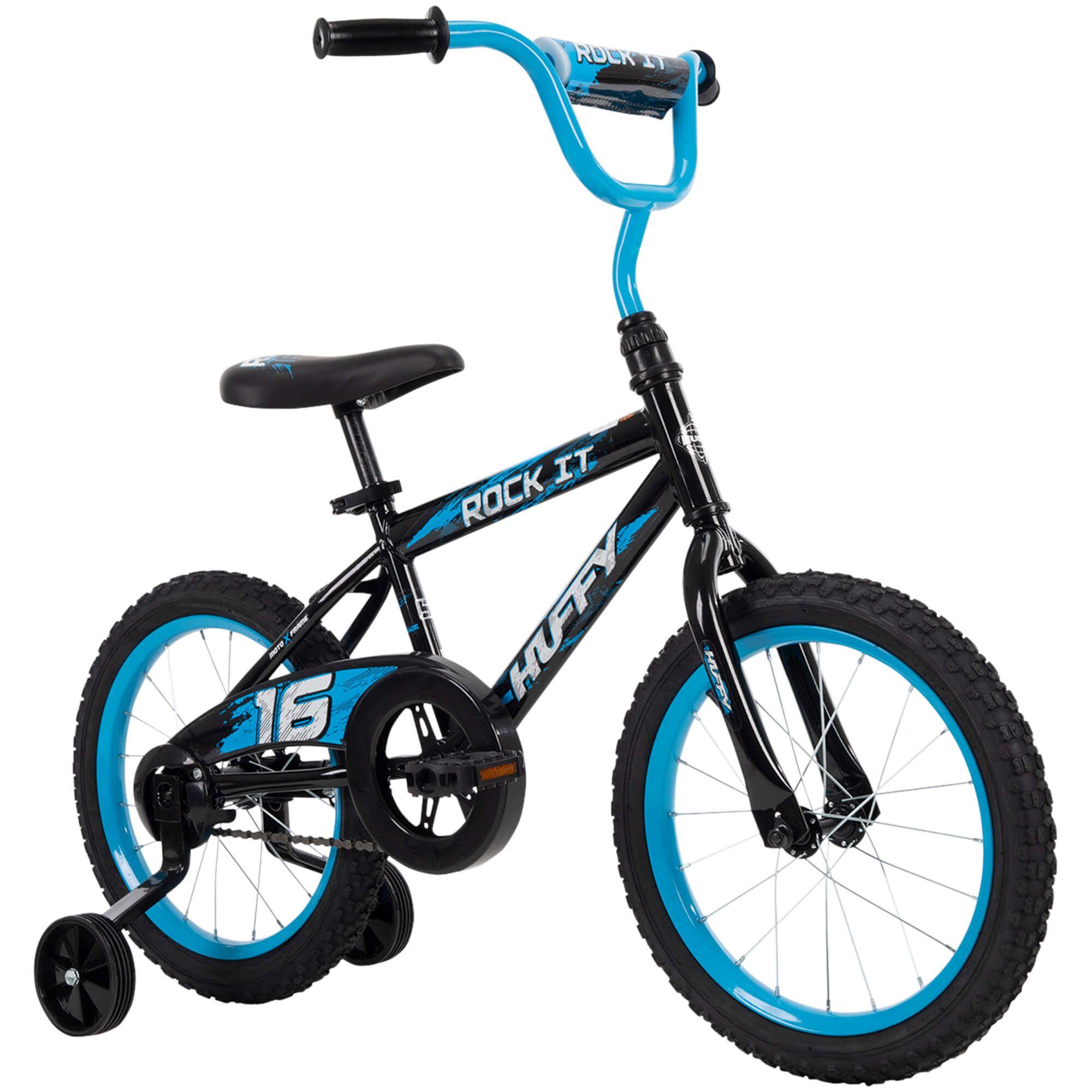 Huffy 16 Rock It Boys Bike For Kids Blue Walmart Com Boy Bike Kids Bike Huffy