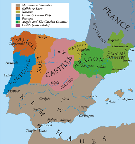Kingdom Of Portugal Christian Empire And History - Portugal england map