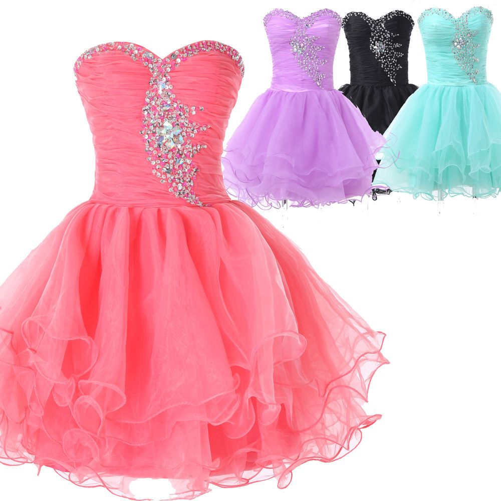 CHEAP Beaded Homecoming Dress Formal Evening Party Graduation Short ...