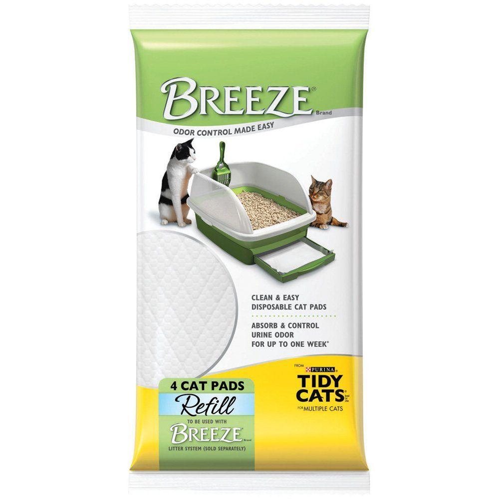 Breeze Tidy Cat Litter Pads 16.9'x11.4'(1 pack of 4 pads