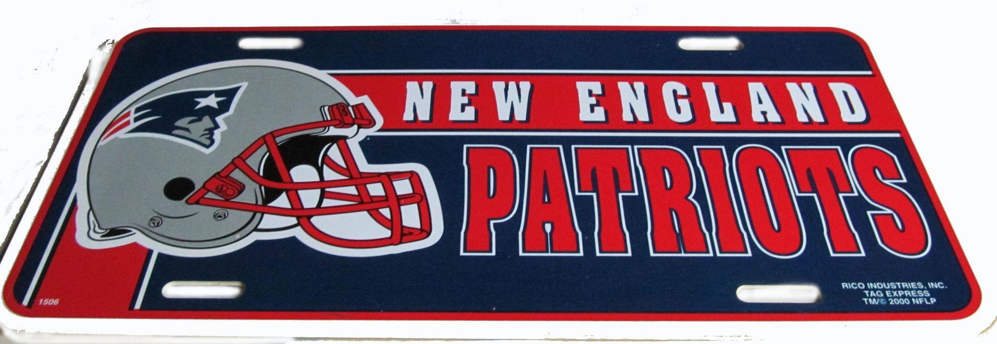 New england patriots license plate patriots new england