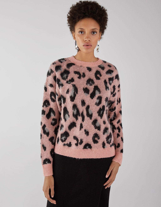 foto ufficiali a7a86 7878b Pullover con stampa leopardo   Wishlist   Abbigliamento e Donna