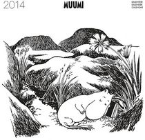 Muumi seinäkalenteri vuodelle 2014, musta-valkoiset kuvat