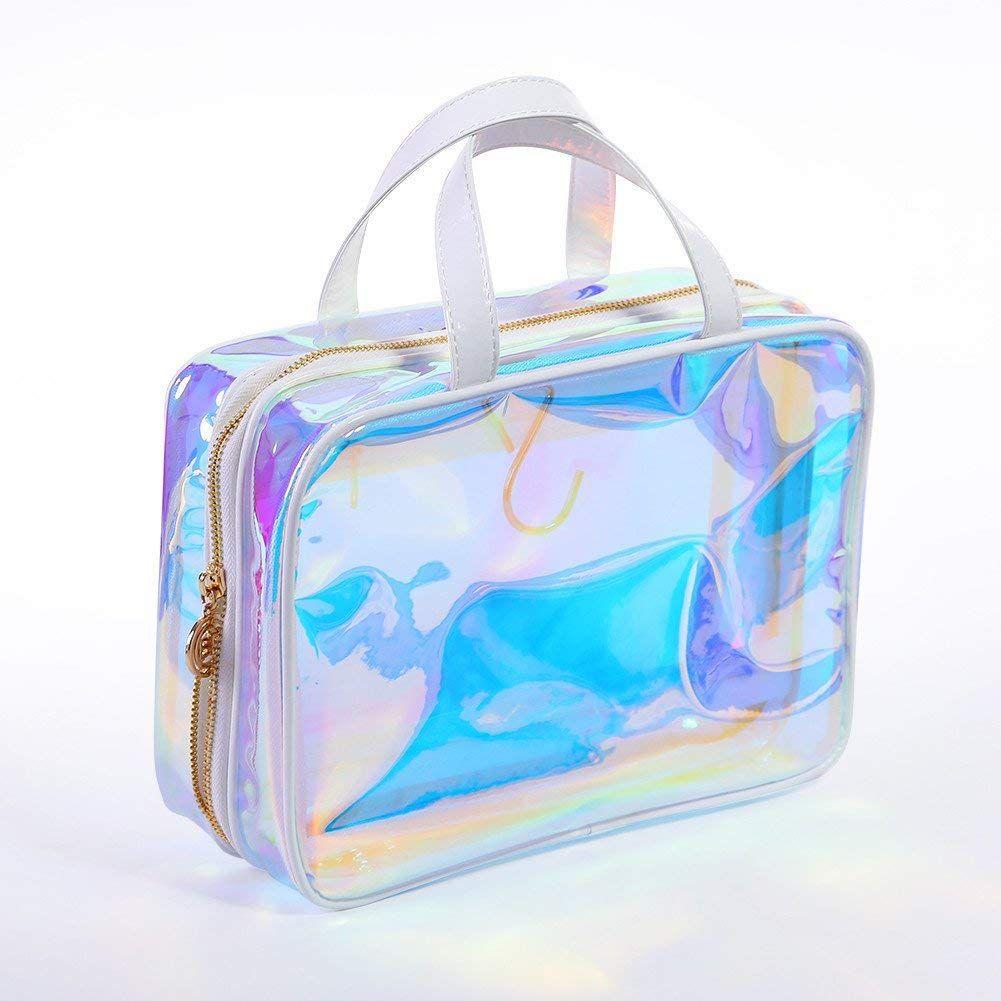 Amazon Com Born Pretty Transparent Makeup Bag Rainbow Clear