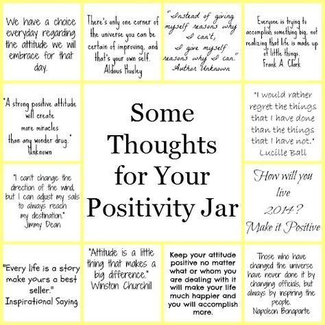 Some Thoughts For Your Diy Positivity Jar Quote Jar Positivity Challenge Positive Quotes